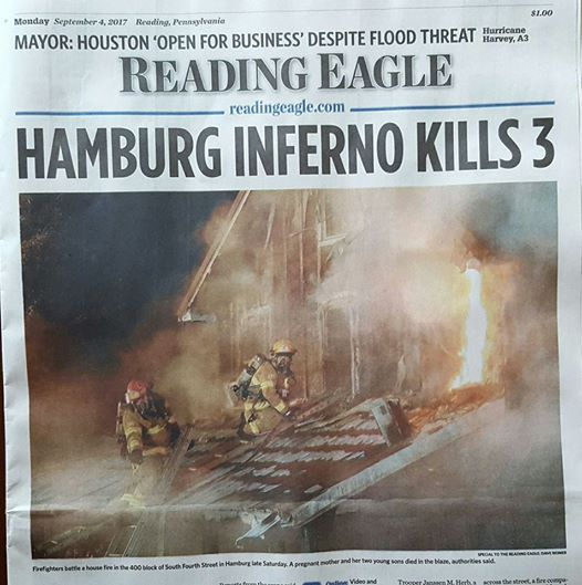 R11 Runs Fatal Fire in Hamburg Boro