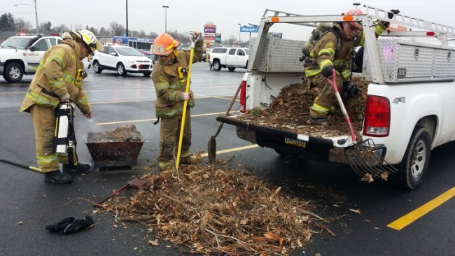 Small Fire In Pickup Truck @ Wal-Mart