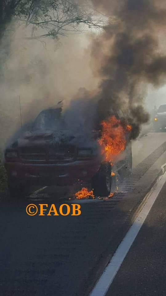 Working Vehicle Fire on Rt 222 in Muhlenberg Twp